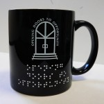 Braille mugs from Braille Awards